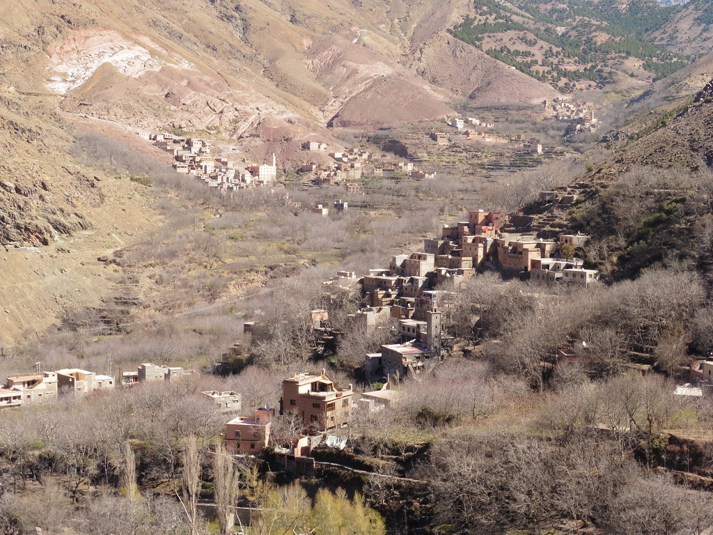 Village in the foothills of the Atlas Mountains, Morocco