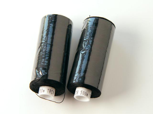 500m spools Coats Tre Cerchi 40 100% cotton sewing thread – black