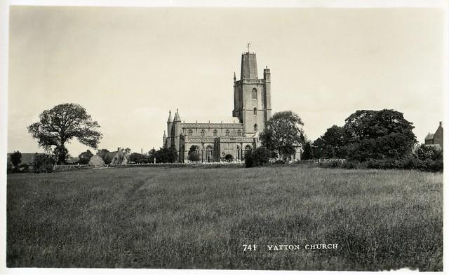 Vintage Postcard - St Mary's Church - Yatton, North Somerset