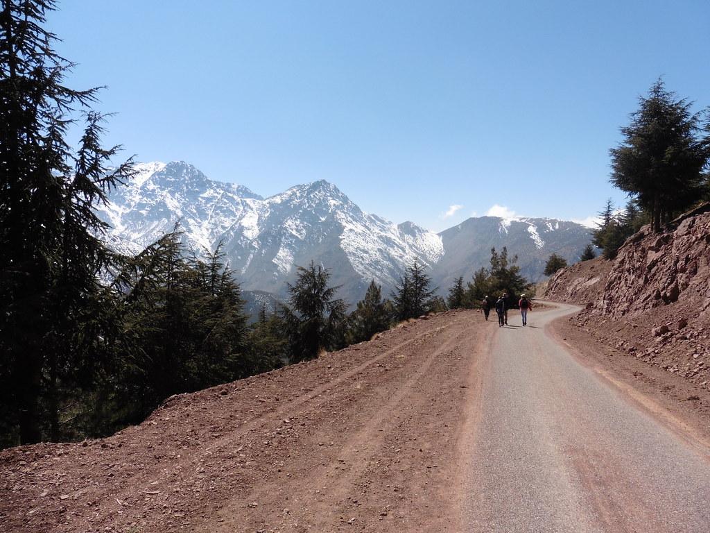 Dirt track Atlas Mountains Morrocco