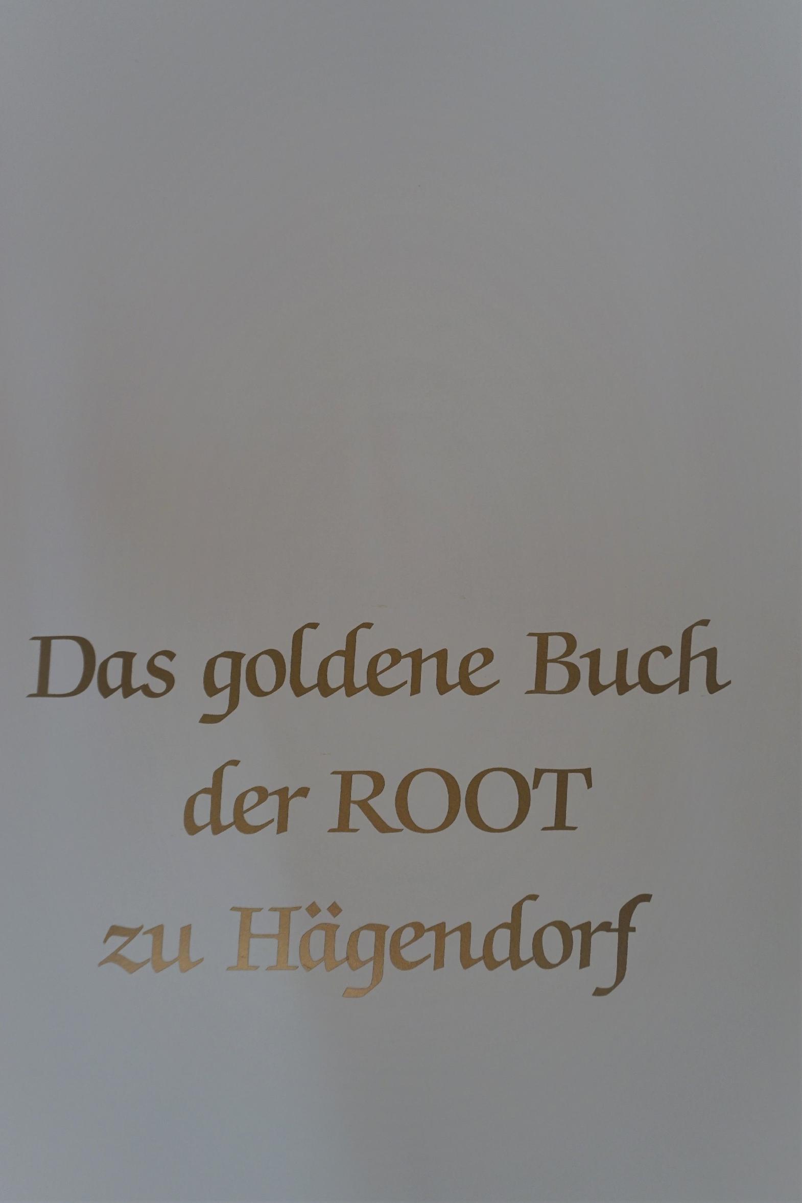 Das goldene Buch der Root zu Hägendorf