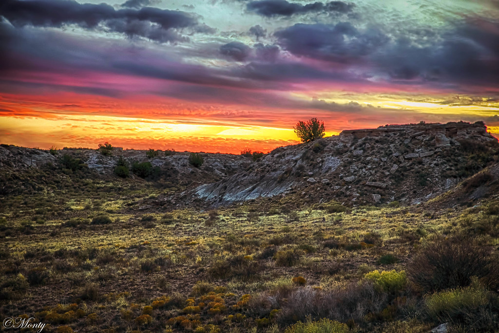 Sunset over the Petrified Forrest, Arizona