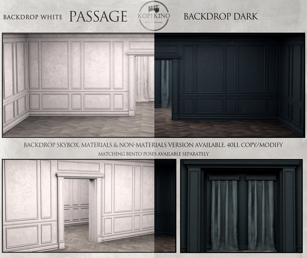 "NEW – KOPFKINO Backdrop ""Passage"" for Pose Fair"