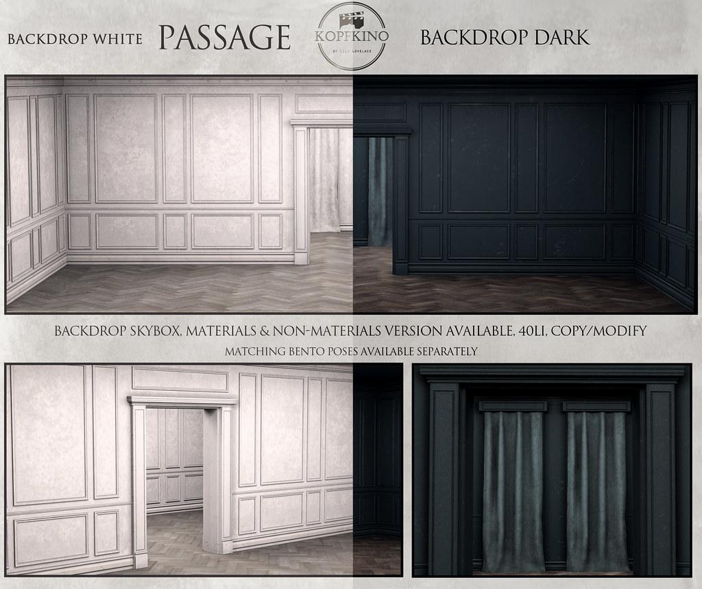 "NEW - KOPFKINO Backdrop ""Passage"" for Pose Fair"