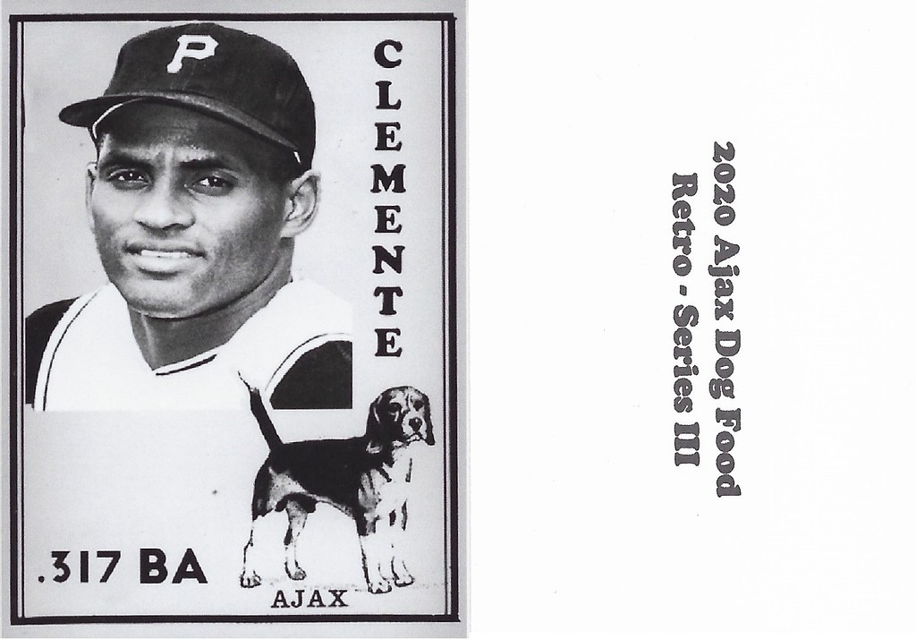 2020 Ajax Dog Food Retro Alt Back - Clemente, Roberto2