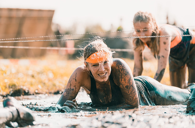 Crawling through the mud.