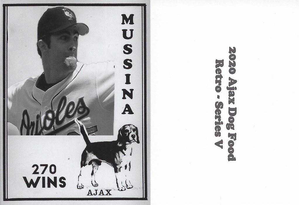 2020 Ajax Dog Food Retro Alt Back - Mussina, Mike2