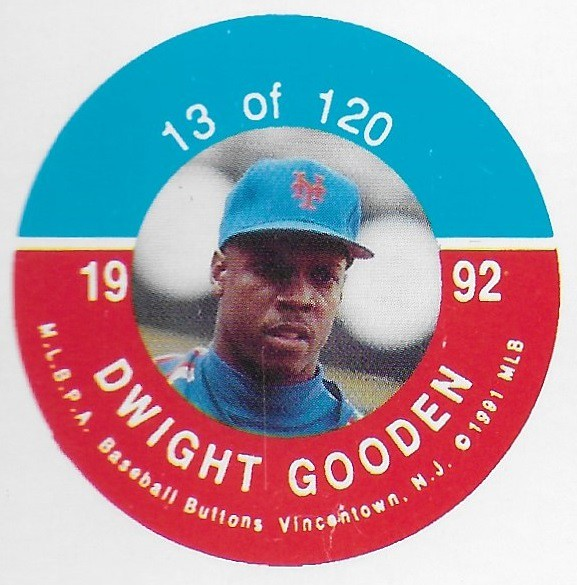 1992 JKA Vincentown Button Proof Square - Gooden, Dwight