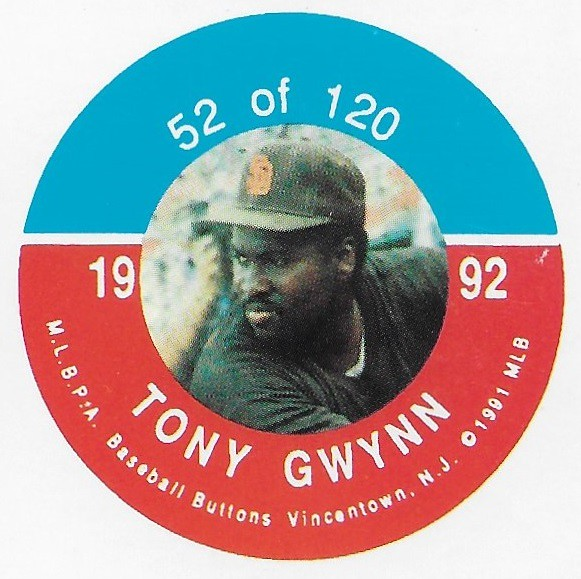 1992 JKA Vincentown Button Proof Square - Gwynn, Tony