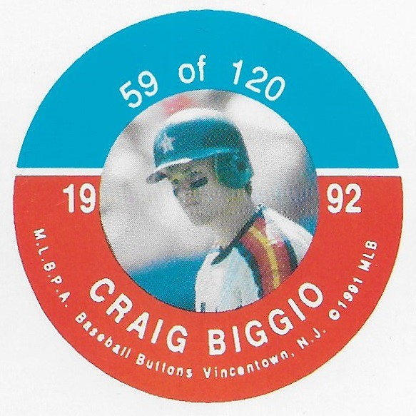 1992 JKA Vincentown Button Proof Square - Biggio, Craig