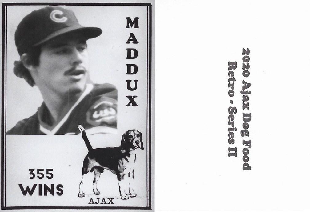 2020 Ajax Dog Food Retro Alt Back - Maddux, Greg2