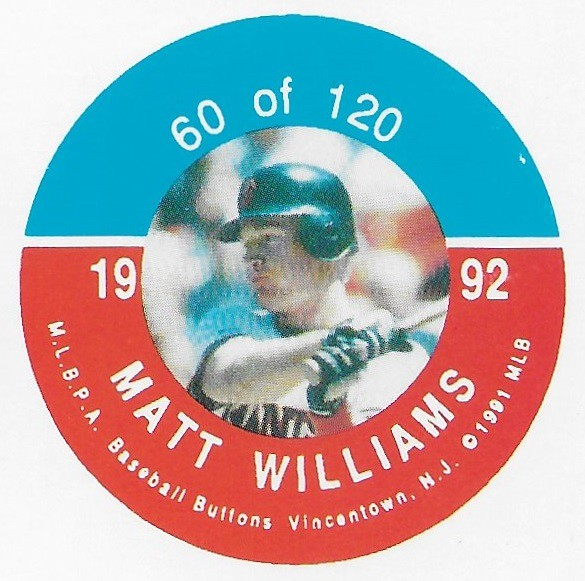 1992 JKA Vincentown Button Proof Square - Williams, Matt