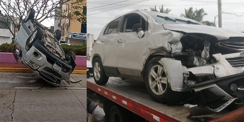Estuvo involucrado el vehículo Kia tipo Forte de color gris, con matrícula TSU244-A del estado de Puebla que circulaba de poniente a oriente sobre Hidalgo.