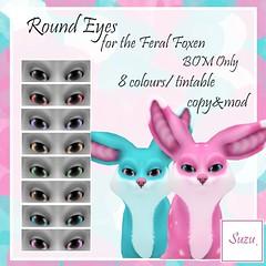 Feral Foxen Round Eyes