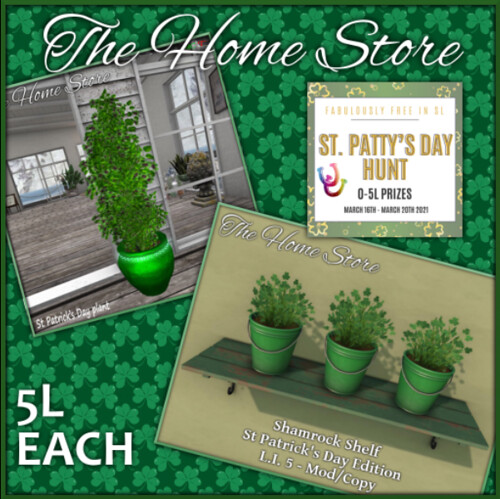 The Home Store Key - FabFree St. Patty's Day Hunt