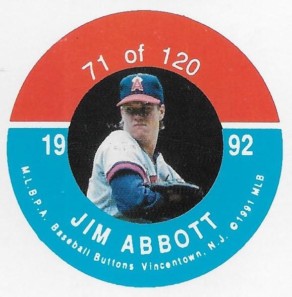 1992 JKA Vincentown Button Proof Square - Abbott, Jim