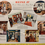 "Sun, 2021-03-07 09:09 - ""Colorful symbols of Heinz experience since 1869 in the preparation of fine foods are these unique kitchens.  Faithful reproductions of typical furniture arrangements and atmospheres of each period portrayed, they present a picturesque parade of culinary progress.  For these rooms depict the evolution from an era of cookstove servitude and crude utensils to the scientific, convenient kitchens and the ready-to-serve foods of 1939.  Contributory to this new freedom has been the development of the House of Heinz.  Today the modern housewife can serve the exquisitely seasoned soups of France, the mellow oven-baked beans of New England, the saucy spaghetti of Italy – all these and many other fully-prepared, home-tasting foods – by simply carrying a pantry supply of Heinz 57 Varieties!"""
