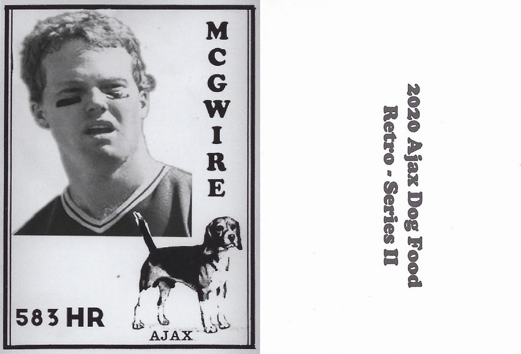 2020 Ajax Dog Food Retro Alt Back - McGwire, Mark2