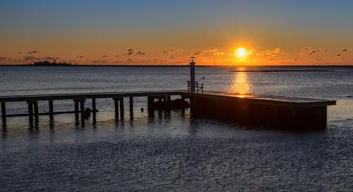 manahawkinbay newjersey jerseyshore sunrise dock