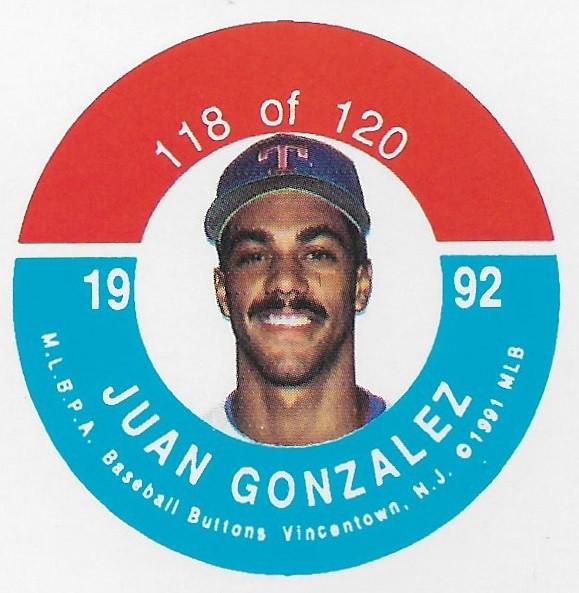 1992 JKA Vincentown Button Proof Square - Gonzalez, Juan