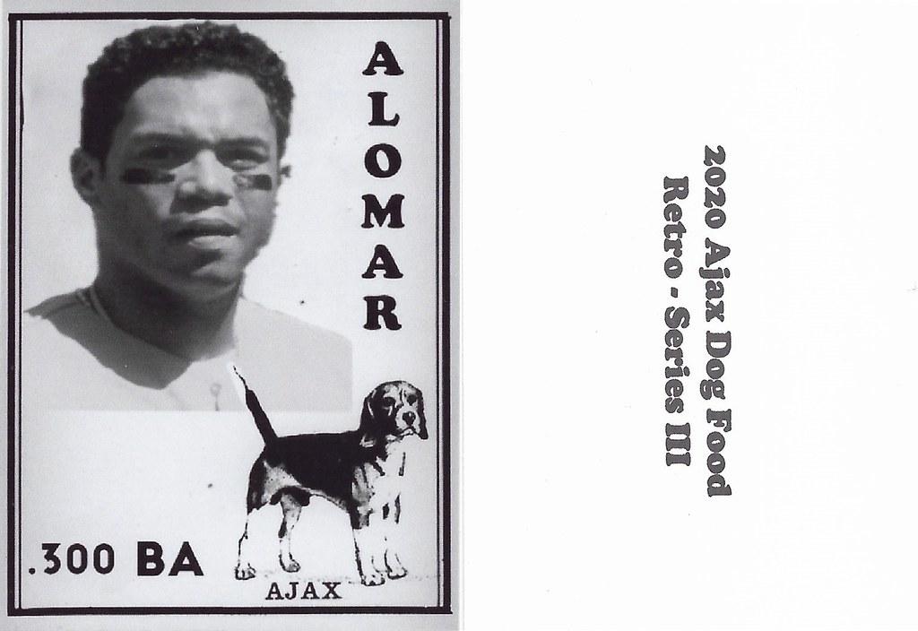 2020 Ajax Dog Food Retro Alt Back- Alomar, Roberto2