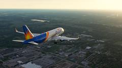 Allegiant A320neo on final runwy 25 Toledo