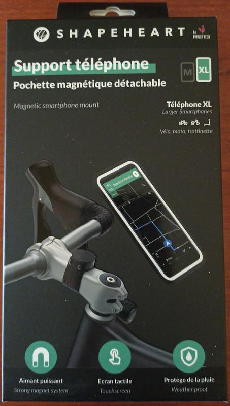 Soporte de móvil para bicicleta magnético: Shapeheart