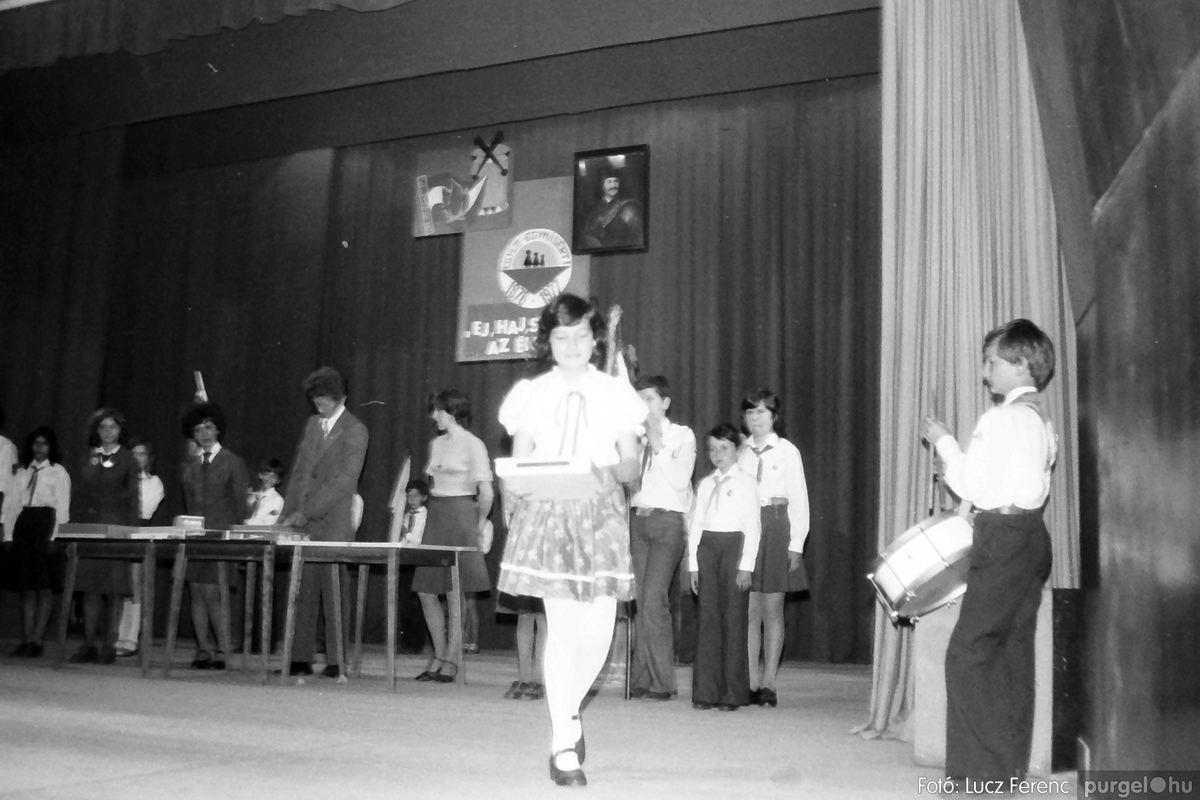 077. 1977. Kulturális seregszemle Mindszenten 012. - Fotó: Lucz Ferenc.jpg