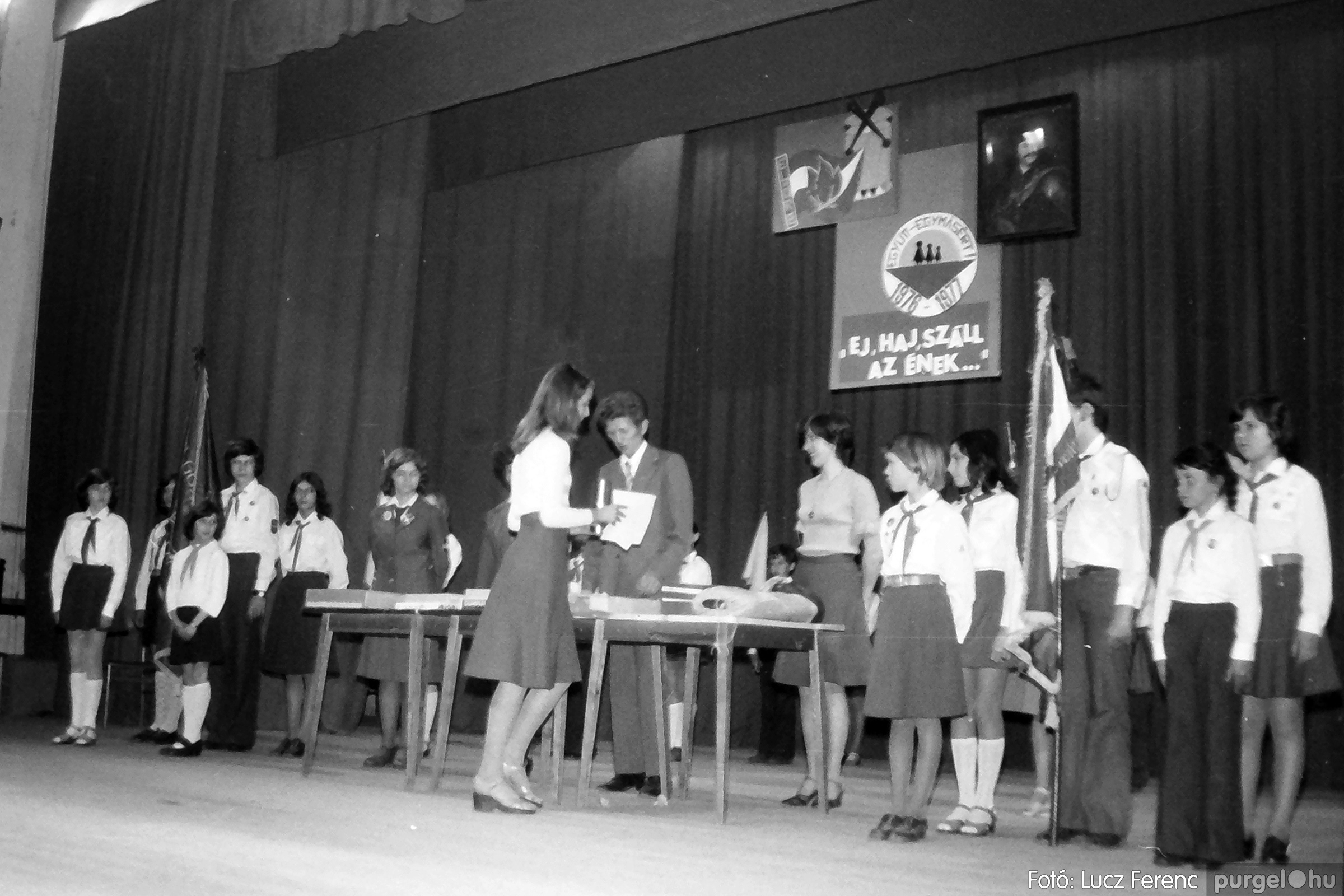 077. 1977. Kulturális seregszemle Mindszenten 009. - Fotó: Lucz Ferenc.jpg