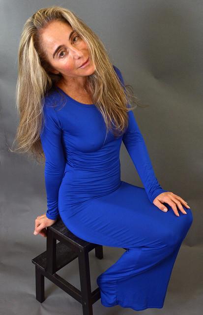 Tight blue dress (10)