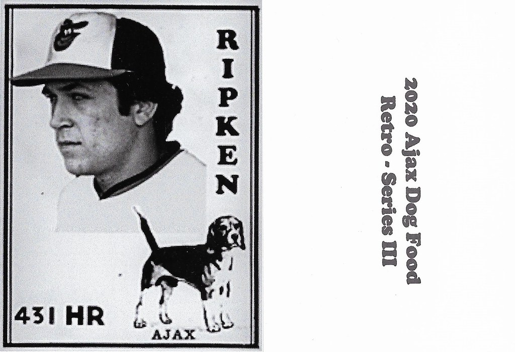 2020 Ajax Dog Food Retro Alt Back - Ripken Jr, Cal2