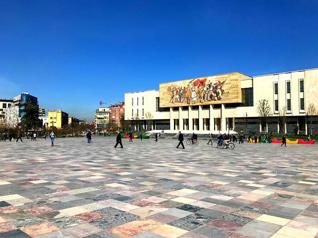 National Historical Museum - Tirana (daytime).