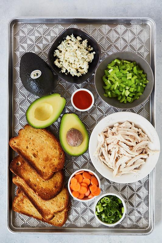 Buffalo Style Avocado Toast {gluten-free}