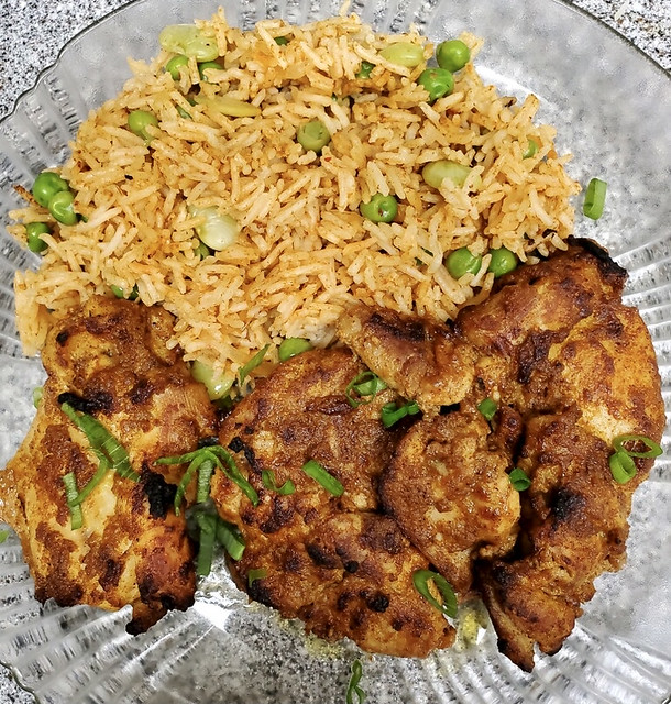 indian chicken with basmati rice 2