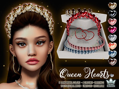 QUEEN HEARTS FATPACK- WHITE QUEEN