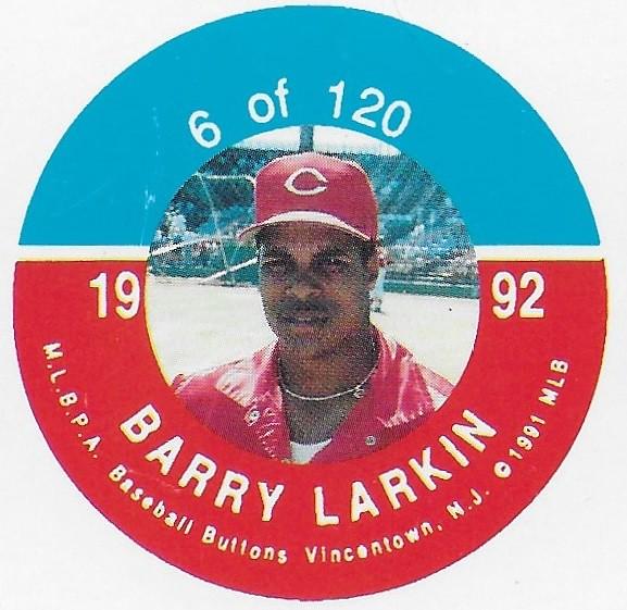 1992 JKA Vincentown Button Proof Square - Larkin, Barry