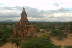Rising spire of an abandoned temple dominates the landscape
