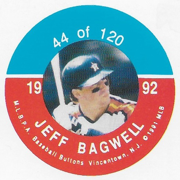 1992 JKA Vincentown Button Proof Square - Bagwell, Jeff