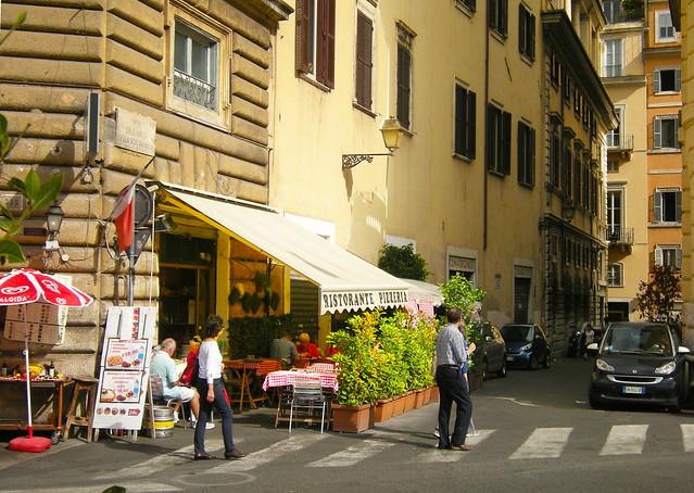Old Rome Street - Corner restaurant