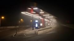'Bus station' - # #ried #riediminnkreis #oberu00f6sterreich #u00d6sterreich #Austria #architecture #night #fog #nebel #wanderlust #wonderlust #visitaustria #myaustria #Busstation #light #winter #darkness #samsung