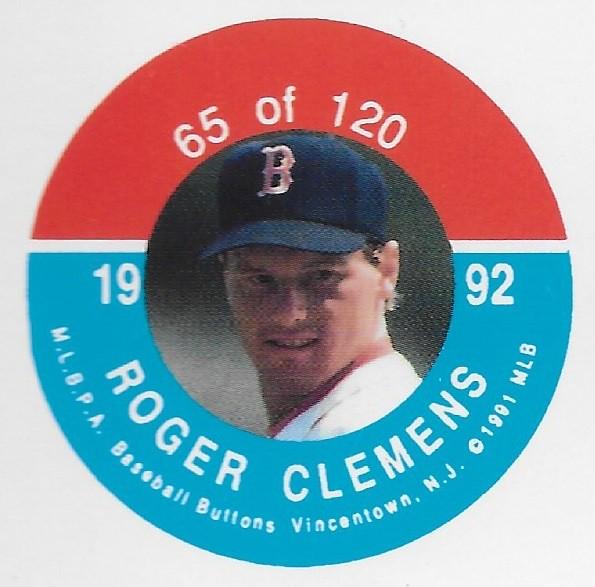 1992 JKA Vincentown Button Proof Square - Clemens, Roger