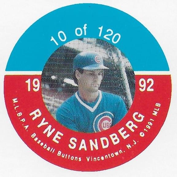 1992 JKA Vincentown Button Proof Square - Sandberg, Ryne