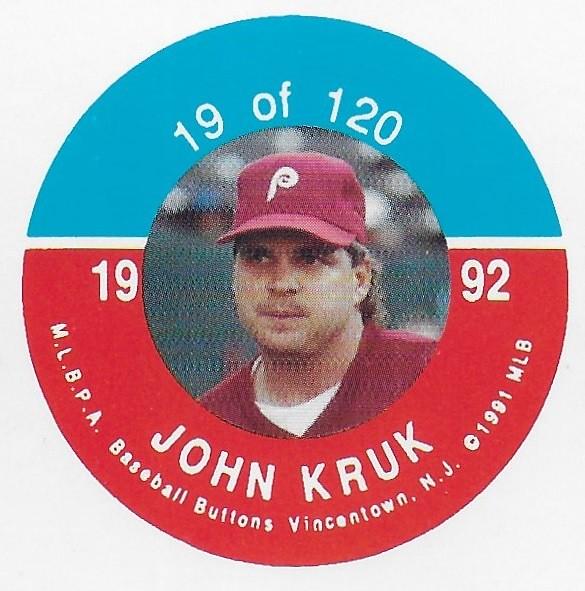 1992 JKA Vincentown Button Proof Square - Kruk, John