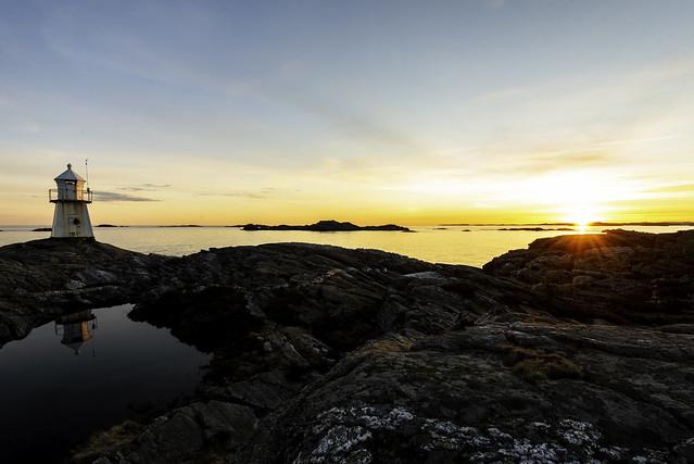 Anstein´s lighthouse sunset