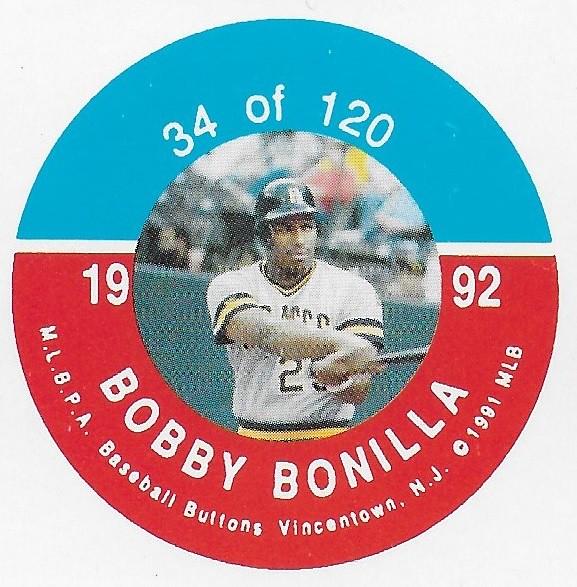 1992 JKA Vincentown Button Proof Square - Bonilla, Bobby