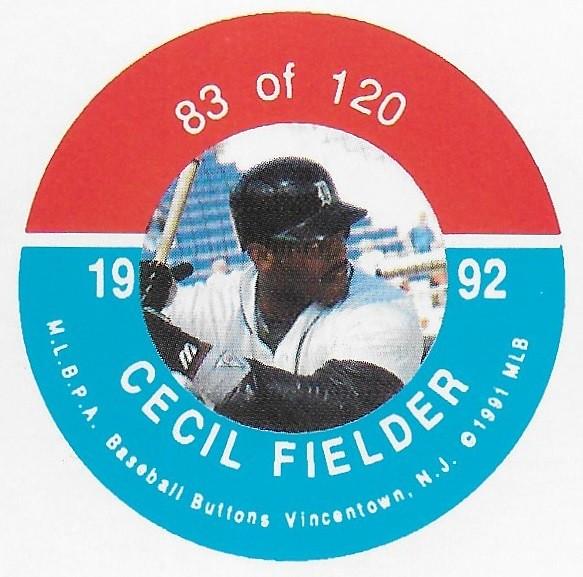 1992 JKA Vincentown Button Proof Square - Fielder, Cecil