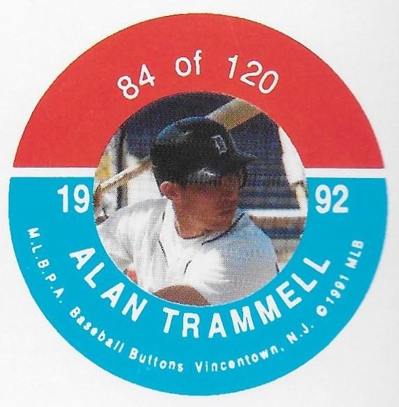 1992 JKA Vincentown Button Proof Square - Trammell, Alan