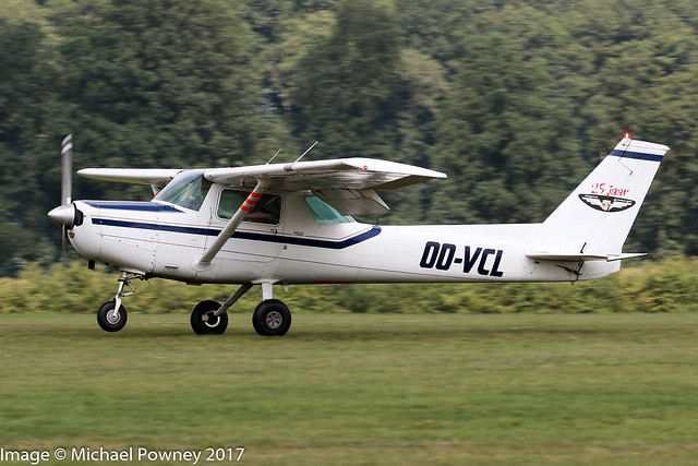 OO-VCL - 1987 build Cessna FA152 Aerobat, arriving at Schaffen-Diest during the the 2017 International Old Timer Fly-In
