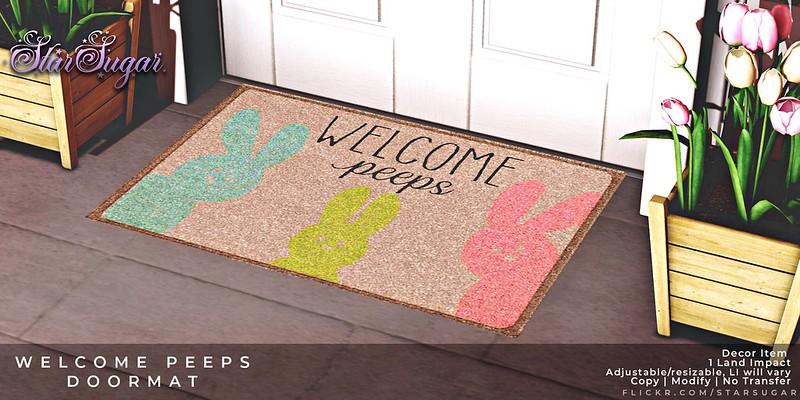 welcome peep doormat