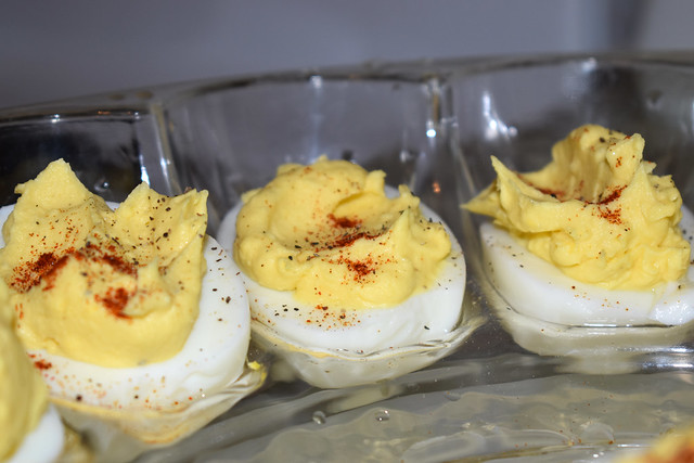 Deviled Eggs On A Plate.